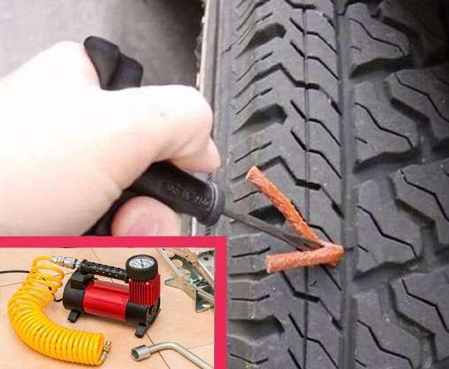 यी ग्याजेटको प्रयोग गरौ, ५ मिनेटमै पन्चर टायर ठिक पारौ